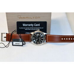 Hamilton Khaki Field Black dial with Brown Leather Band -Automatic-Open Box!