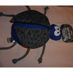 BUZZY BEETLES Bug Ultra Durable Dog Toy Squeaks Toss Fetch Play Blue 6 Legs