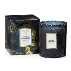 Voluspa Japonica Collection Moso Bamboo Boxed Scallop Candle 6.2 oz 176 g