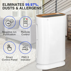 4 in 1 Air Purifier HEPA Filter For Large Room Dust Allergies Smoke Disinfection