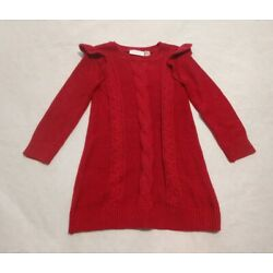 NWT Children's Place Red Sparkle Christmas Sweater Dress 4T Toddler Girl