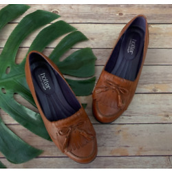 Hotter brown leather tassel Shipley loafers US 9 New Retro Shoes Tan