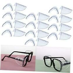 Hub s Gadget 12 Pairs Safety Eye Glasses Side Shields, Slip On Clear Side