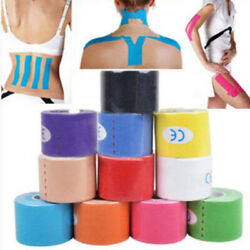 5M Kinesiology Sport Muscle Care Tape Elastic Physio Therapeutic Injury Support