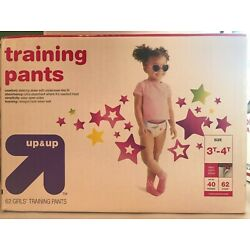 Up & Up Girls Training Pants Size 3T-4T (up to 40 lbs) - 62 Count FREE SHIPPING!