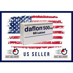 US SELLER Daflon 500 mg 60 Tablets Exp Date 2023 Later Ship From Miami