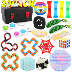 20Pack Fidget Toys Set Sensory Tools Bundle ADHD Anti Stress Relief Toy with Box