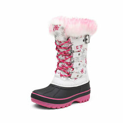 Boys Girls Snow Boots Insulated Winter Warm Knee High Ski Boots Kids Size 9T-6