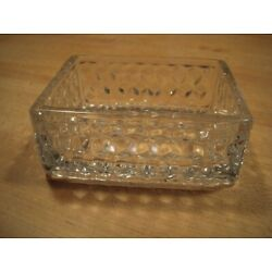 Fostoria American Open Box - 3 1/2 inches by 4 3/4 inches by 1 7/8 inches High