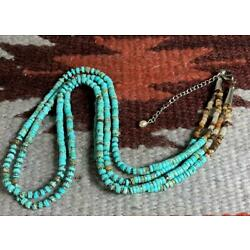 South western multi-strands turquoise heishi necklace/23''(y241c-w1)