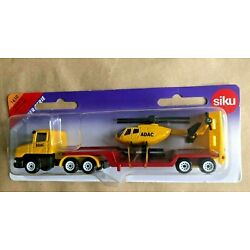 SIKU Super 1610 SCANIA ct14 Truck Low Loader with Trailer ADAC Helecopter MOC