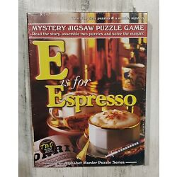 Mystery Jigsaw Puzzle Game E is for Espresso Alphabet Murder Series 2 500 Piece