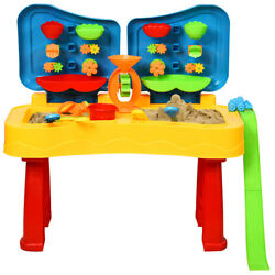 Honeyjoy Kids Sand and Water Table 2 in 1  Activity Play Table w/ Accessories