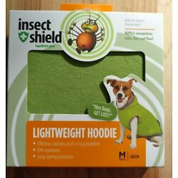 Insect Shield Lightweight Repellant Hoodie Size Medium 16'' Dog Sweater Green New