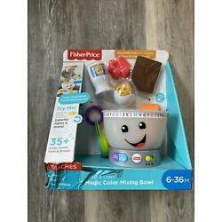 Fisher Price Laugh And Learn Magic Color Mixing Bowl Set NEW IN BOX- Damage Box