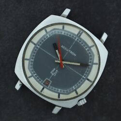 Vintage Accutron TV Dial Men's Tuning Fork Wristwatch 218 for Parts Stainless