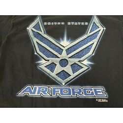 United States Air Force 7.62 Design T Shirt USA Made Military Large Black