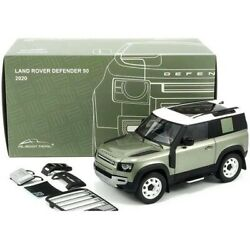 2020 LAND ROVER DEFENDER 90 ROOF RACK GREEN 1/18 DIECAST CAR ALMOST REAL 810704