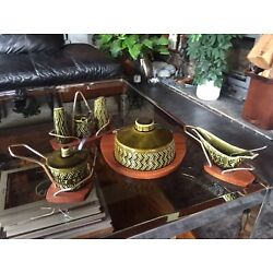 Wyncraft / Lord Nelson Pottery Job Lot With Cruet, Cheese Board And Sauce Boats