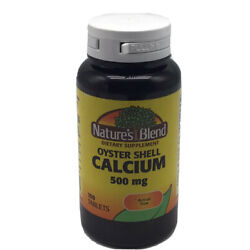 Nature's Blend Oyster Shell Calcium 500 mg 100 Tablets EXP 10/2023