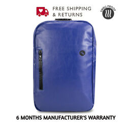 Skunk Elite Smell Proof Weather Proof Back Pack - w / Combo Lock Blue Leather