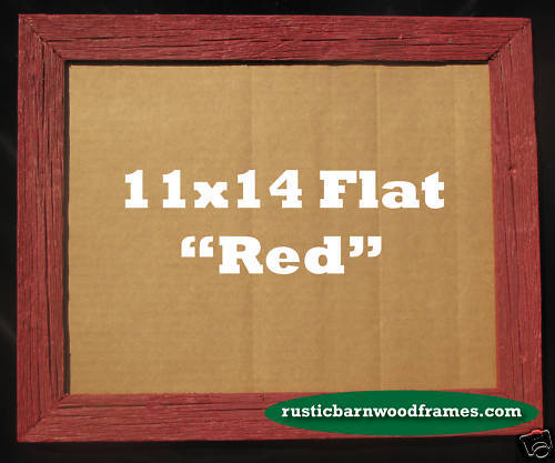 11x14 Red Rustic Barnwood Barn Wood Picture Photo Frame Ebay