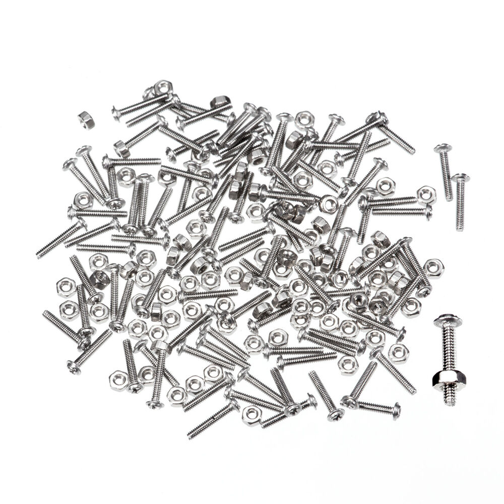 Rimless Eyeglass Nuts : 100 Eyeglasses frame SS Screws and Nut sets L15 Rimless eBay