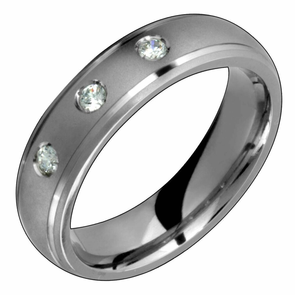 wedding rings for her mens titanium ring with engagement wedding band 1030