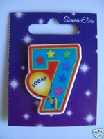 Small Shaped Party Badge - 7 Today (Boy)(AA SE 7th)