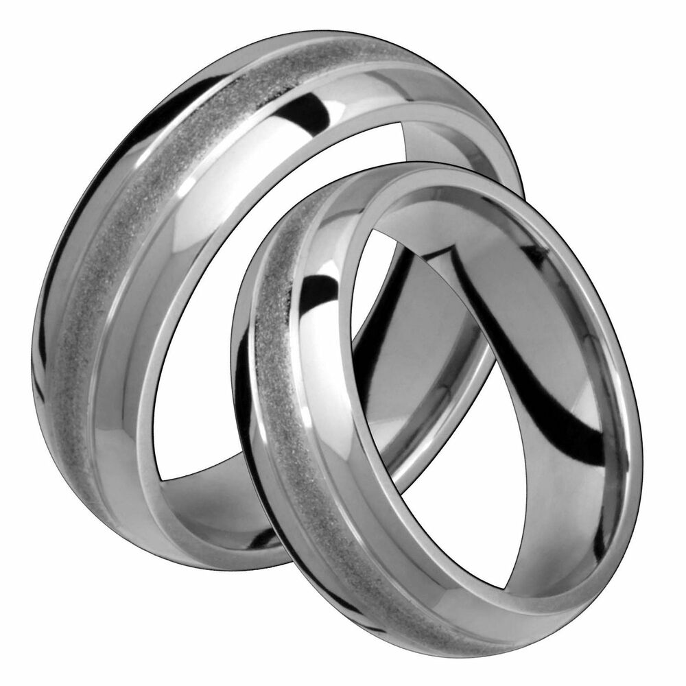 wedding ring for him classic titanium ring comfort fit 7mm wide polished 9952