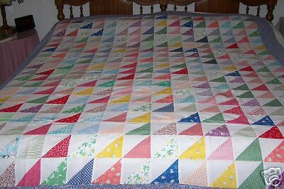 Sawtooth Patchwork Quilt Top Block Old Fashioned Ebay