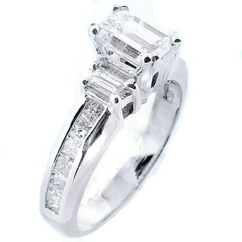 1 27 ct emerald cut engagement ring solitaire ebay