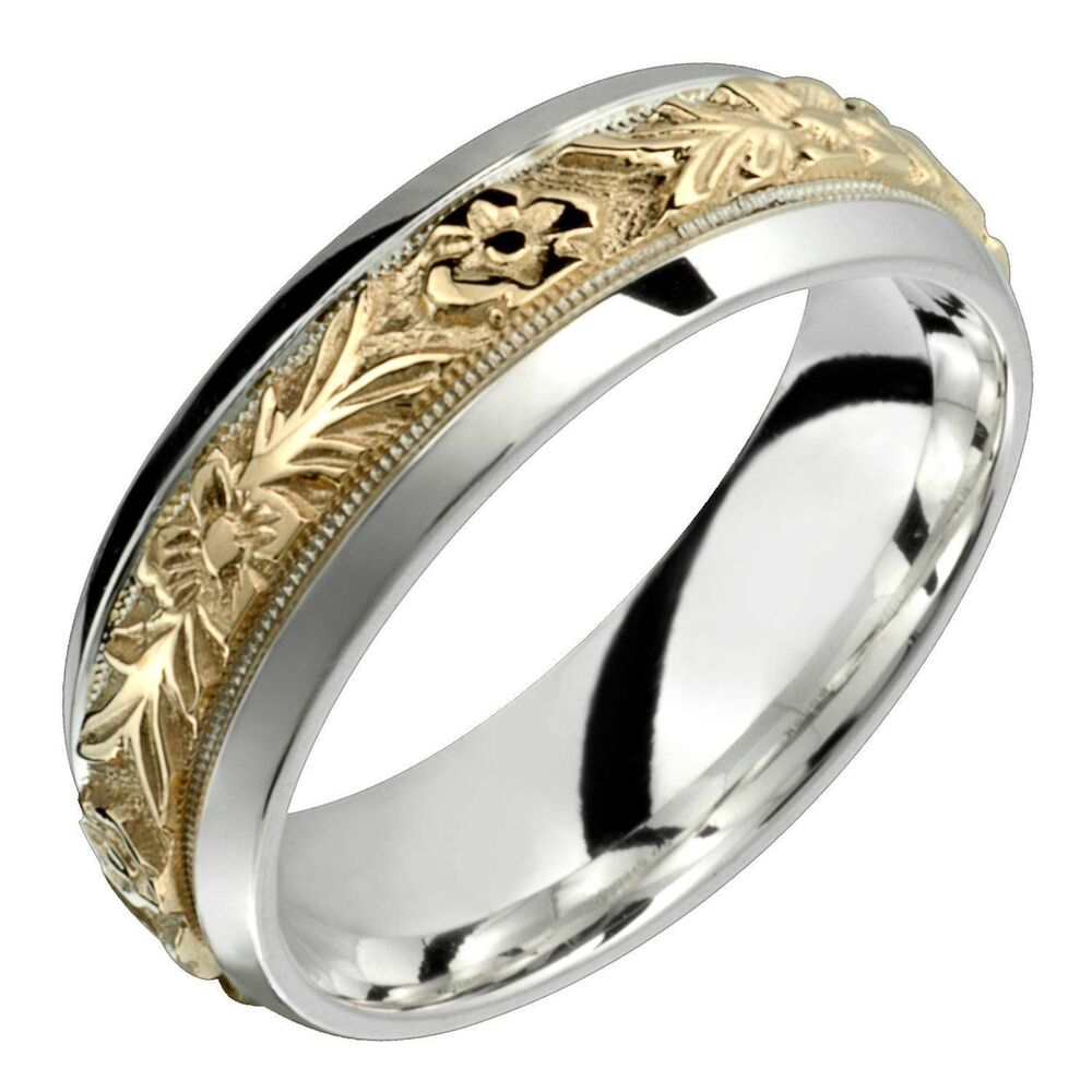 10k gold with 925 sterling silver ring 7mm wide