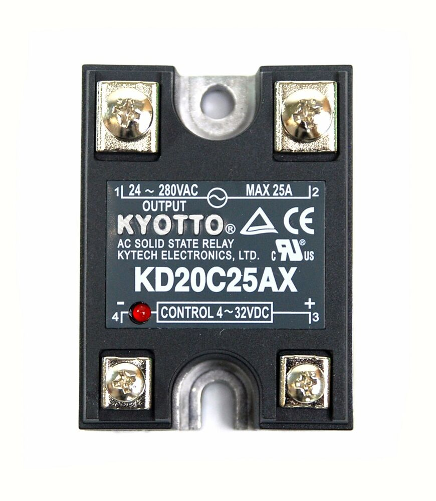 1pc Kyotto Ac Solid State Relay Ssr Kd20c25ax 280vac 25a Dc To Example Ul Taiwan Ebay