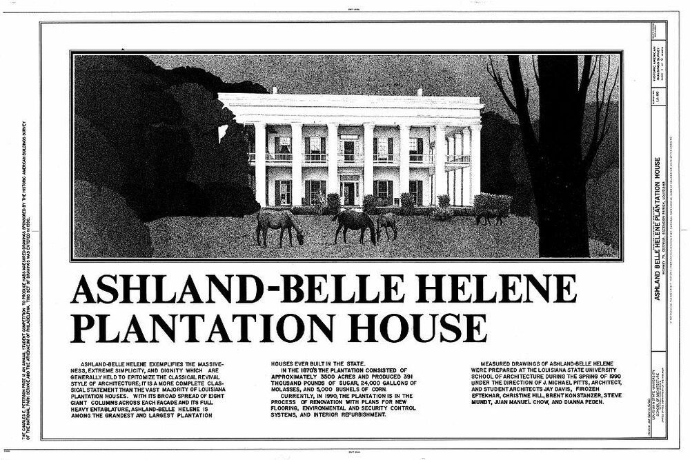 Ashland An Antebellum Plantation House Plans Ebay: louisiana plantation house plans