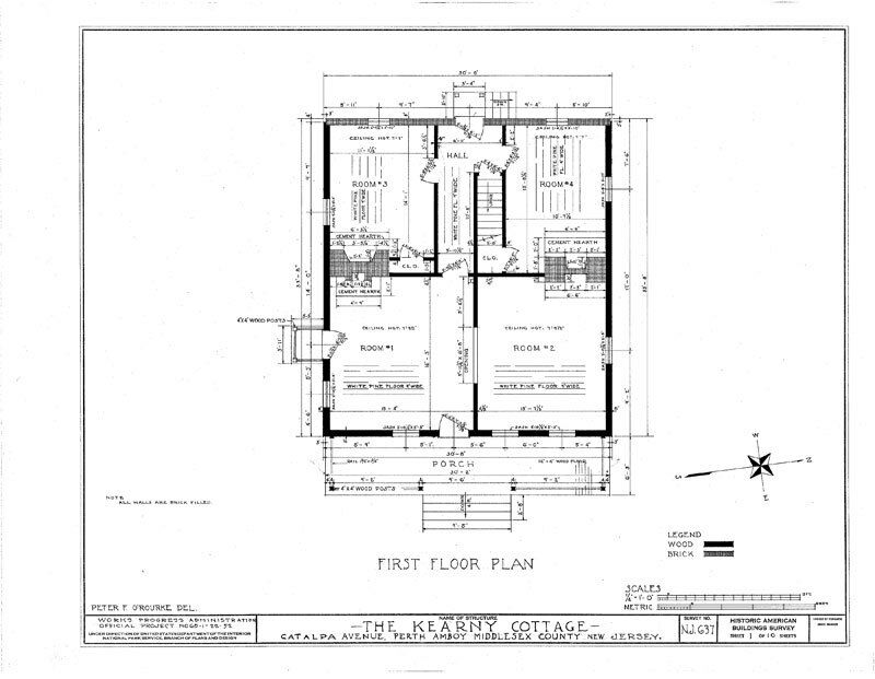 Colonial Saltbox wood frame architectural house plans