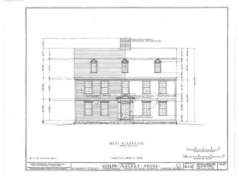 Gambrel Roofed Colonial New England House Plans, Wood