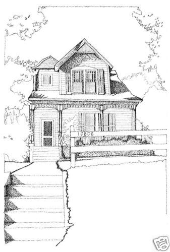 Victorian shingle style home for a narrow lot detailed for Detailed house plans
