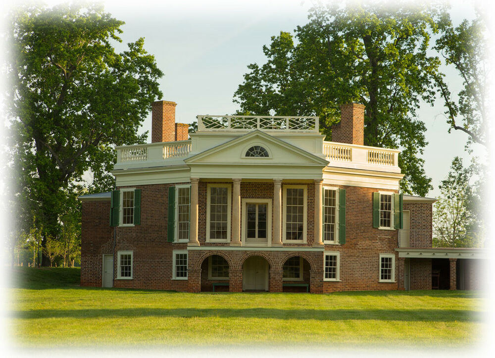 Poplar Forest Unique Octagon Brick Country House Plan By