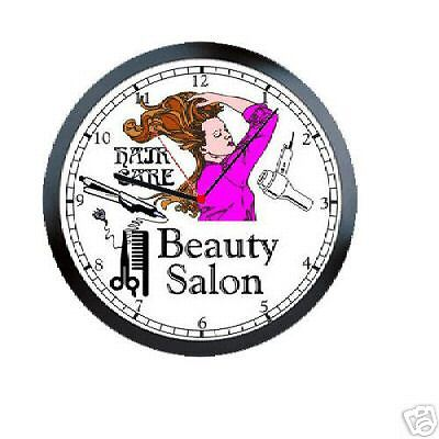 beauty salon hair care stylist sign wall clock 846 ebay. Black Bedroom Furniture Sets. Home Design Ideas