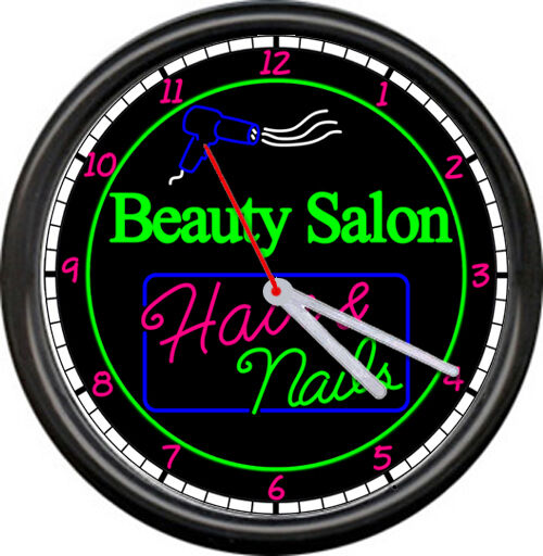 beauty salon nails hairdresser hair stylist neon colors no