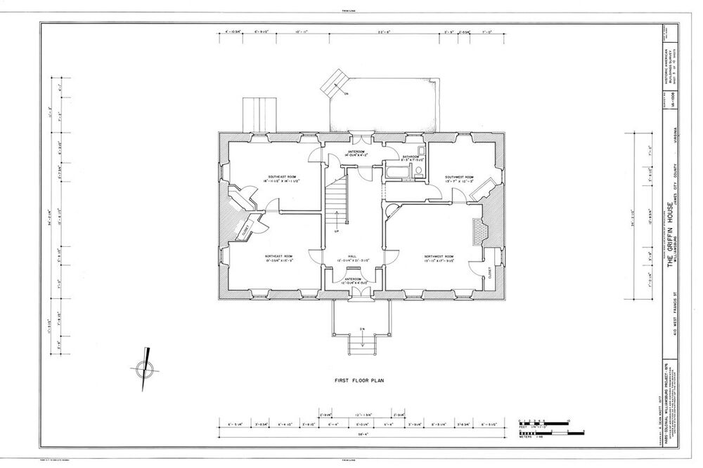 Traditional Style Colonial Home Plan Williamsburg Va