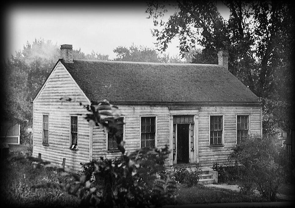 House plan wood and stone colonial style cottage Historic colonial house plans