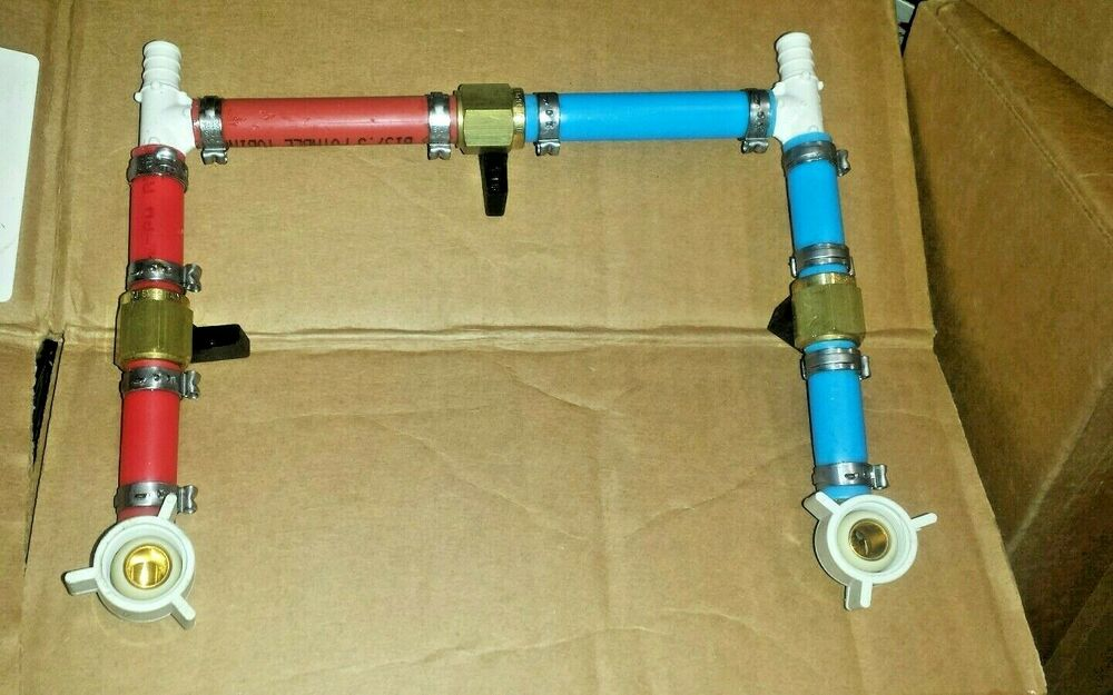 Rv water heater bypass pex valve by pass 1 unit ebay for Pex fittings for hot water heater