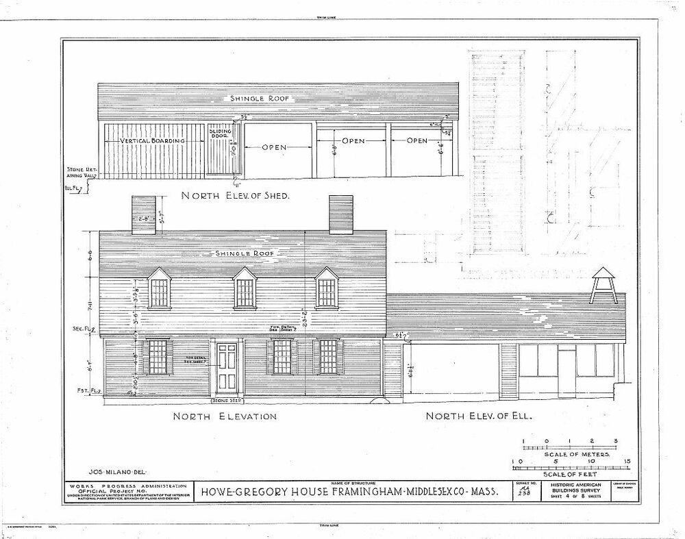 Dutch colonial house plans detailed blueprints for New england colonial style