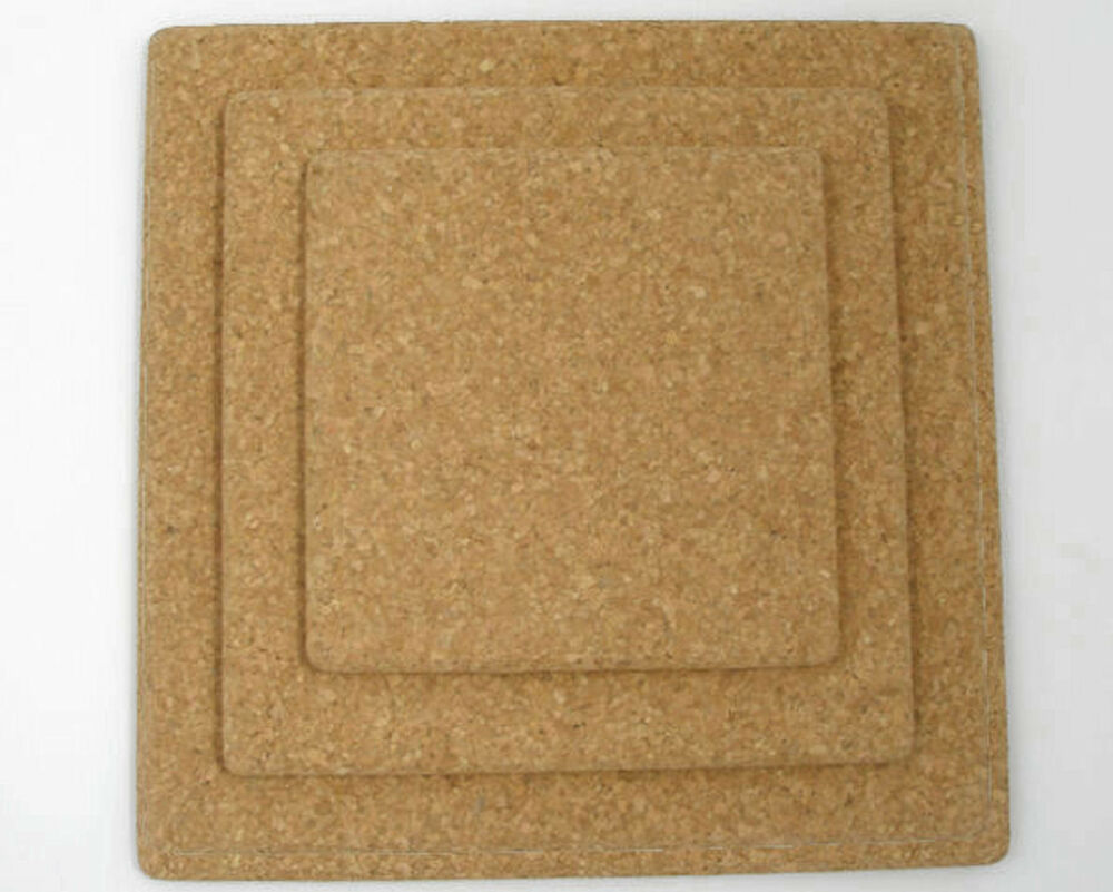 Square Natural Cork Tablemat Placemats 150mm X 150mm Ebay