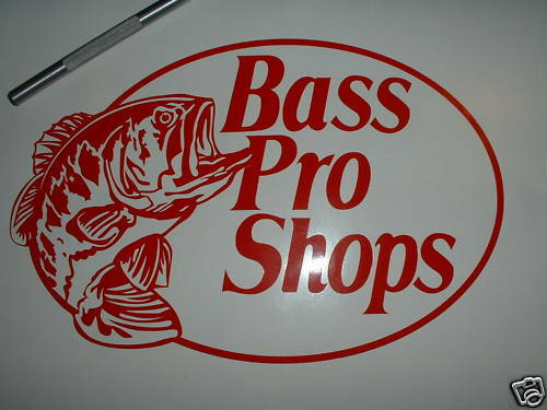 Bass pro shops fishing decal reel bass boat hunting rod ebay for Bass pro shop fishing
