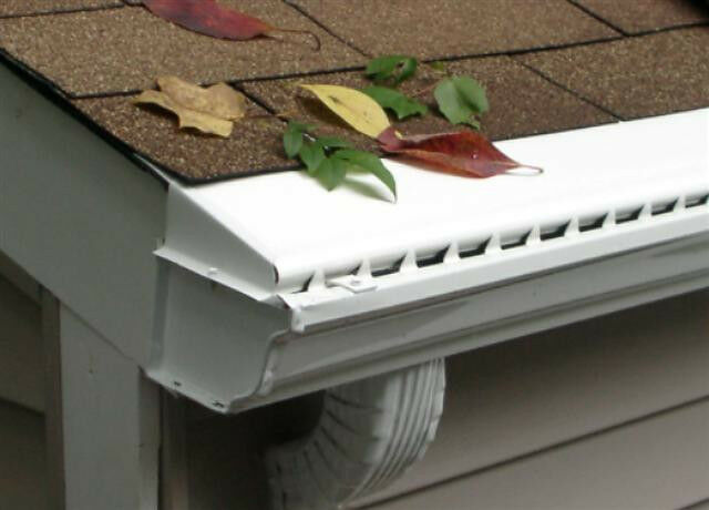 Vinyl Solid Gutter Cover Leaf Guard 100 Ft Ebay