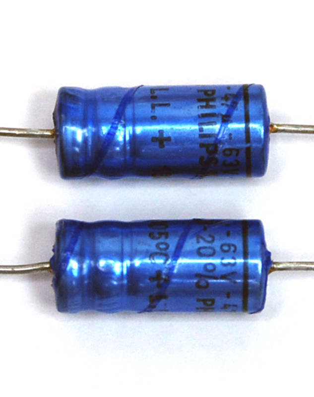 20pc Electrolytic Capacitor 47uF 63V 105℃ Axial Philips Long Life 8x19mm  | eBay