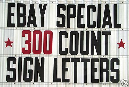 8quot on 8 7 8quot flexible plastic sign letters numbers for for Outdoor reader board letters